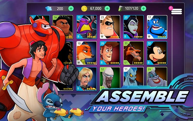 Download Disney Heroes mod