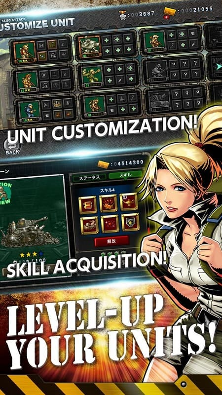 Metal Slug Attack level-up your units