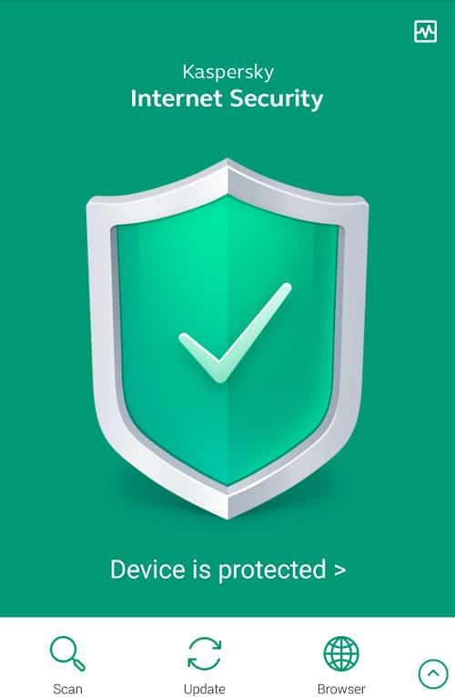 Kaspersky Mobile Antivirus Protect Device