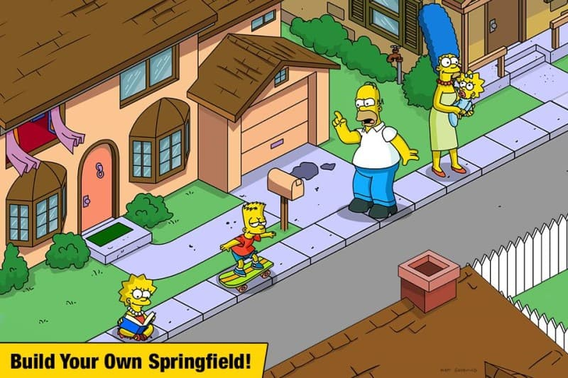download The Simpsons Apk Mod game