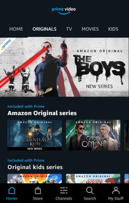 tải Amazon Prime Video bản mod cho android