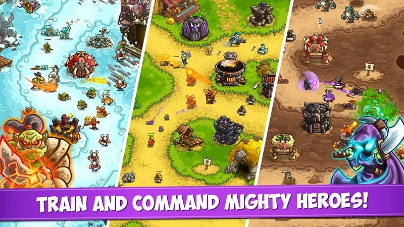 Train and command mighty heroes