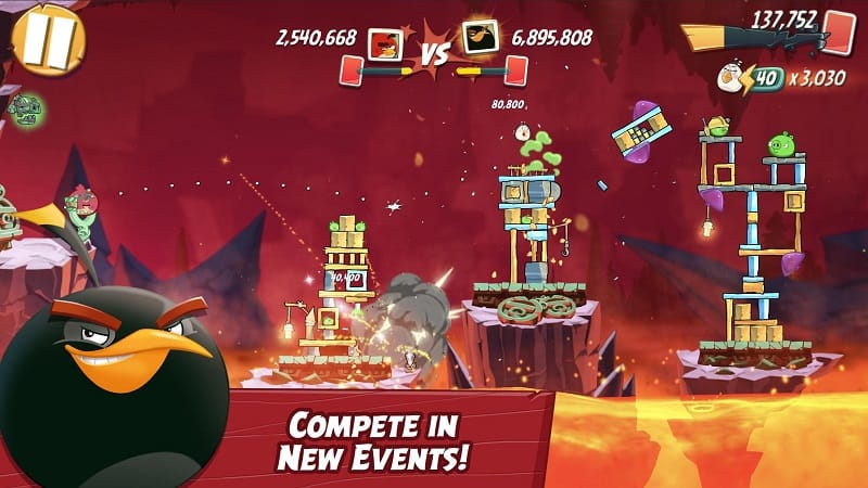 mod version game Angry Birds 2 unlimited money